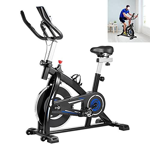 Ciclette per casa Con trasmissione a cinghia silenziosa Spin bike Sensori palmari Cyclette diadora Capacità di carico 80 kg