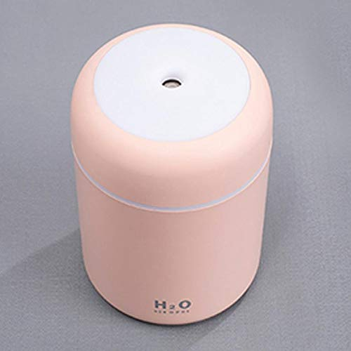 Ramoni USB-Auto-Luftbefeuchter, 300 Milliliter tragbarer Mini-Auto-Luftbefeuchter, Luftreiniger mit Multi-Color-Änderungs-Licht für Reise, Familie, Auto