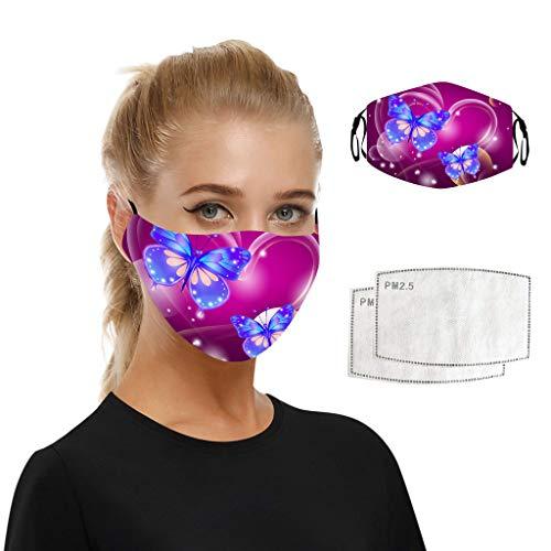 Print Mouth Mask With Carbon Filter - Washable Reusable Adjustable Face Mask Aadiju