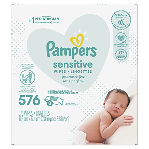 Baby Wipes, Pampers Sensitive Water Based Baby Diaper Wipes,...