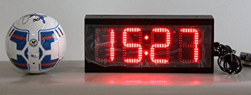 大型LEDデジタル時計・温度計5インチx4桁【BIGLED-4D5】 屋外用 (赤)