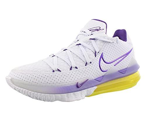 Nike Lebron XVI Low Mens Basketball Trainers CD5007 Sneakers Shoes (UK 6.5 US 7.5 EU 40.5, White Voltage Purple 102)