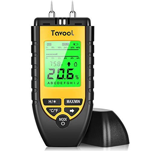Wood Moisture Meter - Digital Moisture Detector Moisture Tester, Pin-Type Water Leak Detector Damp Tester Dampness Meter...