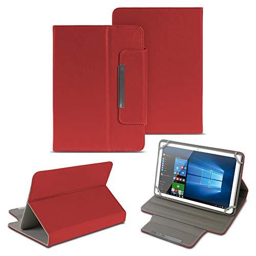 NAUC Universal Tasche Schutz Hülle 10-10.1 Zoll Tablet Schutzhülle Tab Case Cover Bag, Farben:Rot, Tablet Modell für:Excelvan BT-MT10