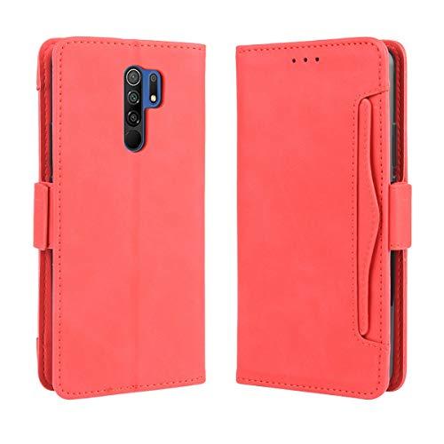 Hongjian Funda para Xiaomi Redmi 9 Flip Case Cover Leather Funda para TPU Silicone Special Case Cover 3