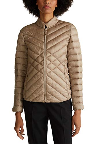 ESPRIT Collection Damen 010EO1G304 Jacke, Beige (Light Taupe 260), Small (Herstellergröße: S)