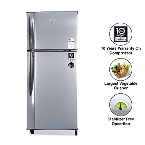 Godrej 236 L 2 Star Inverter Frost-Free Double Door Refrigerator with jumbo vegetable tray (RF EON 236B 25 HI SI ST, Stainless Steel) 5