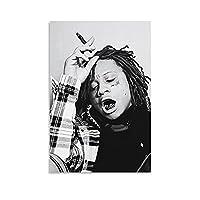 トリッピー・レッドのアート歌手の音楽の煙 アパート壁の装飾24×36inch(60×90cm)