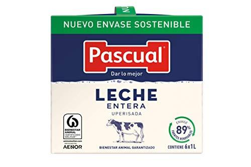 Pascual Leche Clásica Entera, 6 x 1L