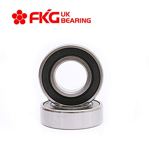 FKG 6205-2RS 25x52x15mm Deep Groove Ball Bearing Double Rubber Seal Bearings Pre-Lubricated 2 Pcs