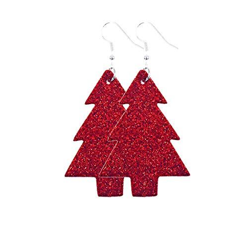 Mujeres Christmas Hook Drop Dangle Earring Charm Eardrop Jewelry Regalo de año nuevo, Pendientes de regalo de árbol de Navidad, Colgante de pendiente de Navidad