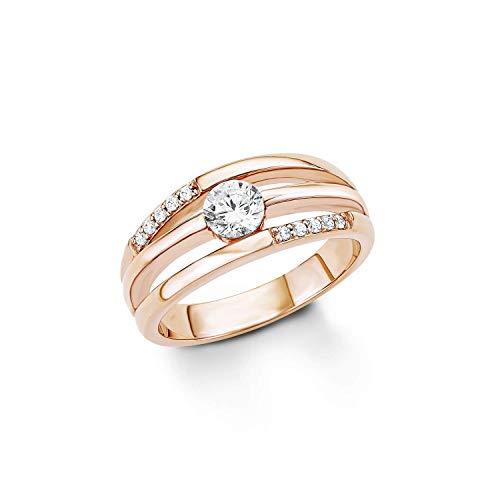 s.Oliver Ring für Damen 925er Sterling Silber rosévergoldet