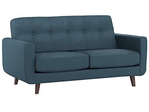 Amazon Brand – Rivet Sloane Mid-Century Modern Loveseat Sofa, 64.2'W, Denim Blue