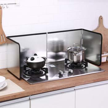WENBING Protector Anti-Salpicaduras de Cocina, Protector de Salpicaduras de Aceite Plegable Protector de Cocina de Gas a Prueba de Salpicaduras para Accesorios de Cocina,133×30cm
