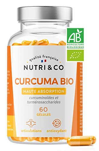 Açafrão Orgânico Potencializado Superior com Pimenta Preta e Gengibre | Alta absorção de curcumina patenteada x45 via estudos clínicos | Articulação antioxidante | 60 cápsulas vegetais fabricadas na França | Nutri & Co