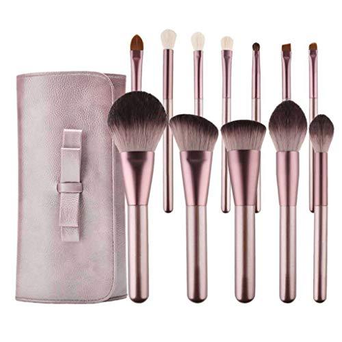 WT-DDJJK Pinceles de Maquillaje, 12pcs Pro Face Cosmetic Powder Makeup Brush Foundation Tool con Estuche de Almacenamiento