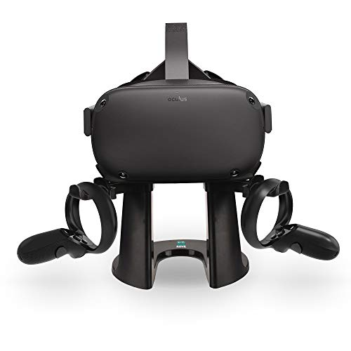 AMVR VR Stand,Headset Display Holder and Controller Mount Station for Oculus Quest, Rift or Rift S Headset and Touch Controllers