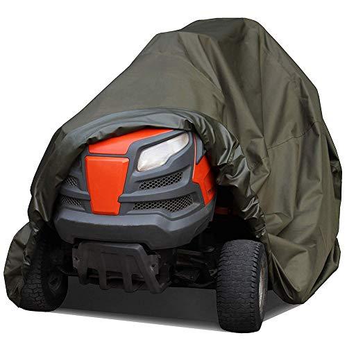 MILECN Abdeckung für Aufsitzrasenmäher, wasserdichte Hochleistungs-Traktorabdeckungen für UV-Schutz, wasserdichte Abdeckung für Aufsitz-Gartentraktor