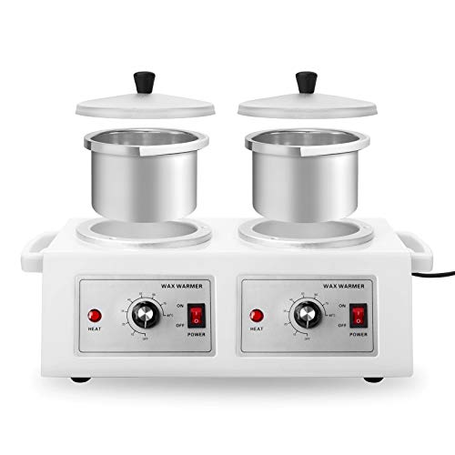 Salon Sundry Professional Double Pot Electric Wax Warmer Machine for Hair Removal or Paraffin