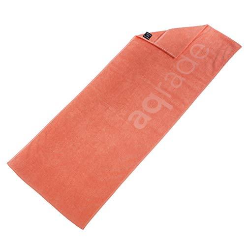 aqrade Sporthandtuch I Fitness Handtuch mit Fixierung I 120x50cm I Gym Handtuch aus 100% Baumwolle I Koralle-rosa I XL