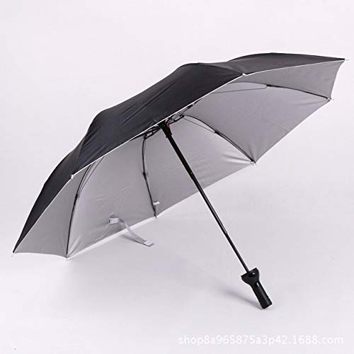 NJSDDB paraplu Creatieve Vrouwen Wijnfles Paraplu 3 Vouwen Zonne-regen UV Mini Paraplu Voor Vrouwen Mannen Geschenken Regenkleding Paraplu verkoop, Zwart