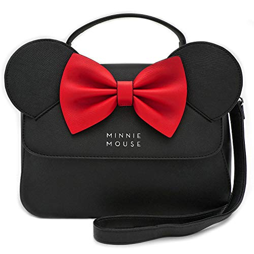 Loungefly Disney Minnie Mouse Crossbody Bag with Ears and Bow