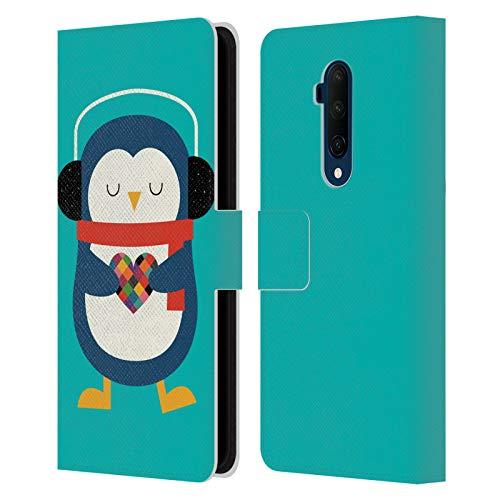 Head Hülle Designs Offizielle Andy Westface Meinem Herz Tierwelt Leder Brieftaschen Handyhülle Hülle Huelle kompatibel mit OnePlus 7T Pro