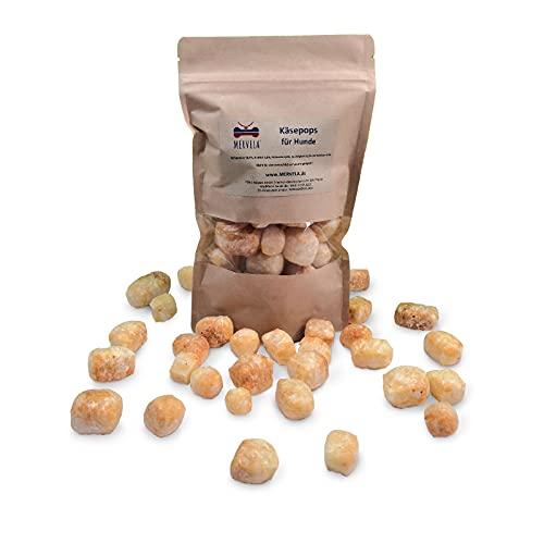 MERVELA® Käse-Pops Snack-Pops für Hunde, 100% natürlich, Cheesy Puffs (250 Gramm)