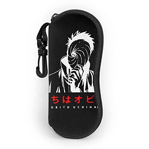 DraSports Fundas de Gafas Estuche Unisex Impermeable Obito Shinobi Ninjaminimalist Illustration Bolsa Blanda para Gafas de sol Portátil