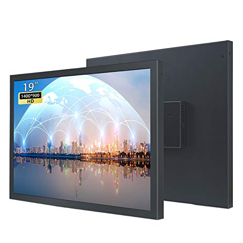 WIFIGDS 19 pollici HD Monitor (1400 × 900), 60 Hz (HDMI+VGA, DC,12 V-3 A) LCD Computer Monitor of TN Monitor da parete per il monitoraggio di sicurezza a livello industriale/monitor portatile