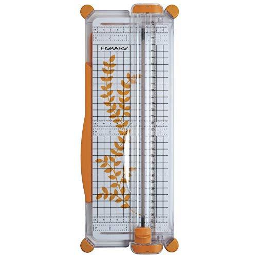 Fiskars Tragbare Papierschneidemaschine, A4, Mit Schnittlinienführung, 1003916