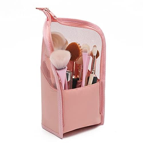 FUNCOCO Trousse de voyage pour pinceaux de maquillage - Étanche - Rose