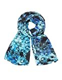 desigual fou_samara multi rectang moda sciarpa, blu, u donna