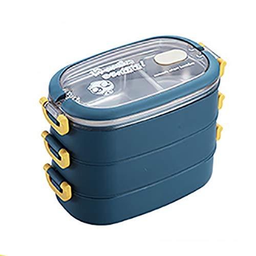 Portable 304 en Acier Inoxydable Boîte À Lunch Bureau Travailleur Bento Boîte Grande Capacité Étudiant Enfants Récipient De Nourriture
