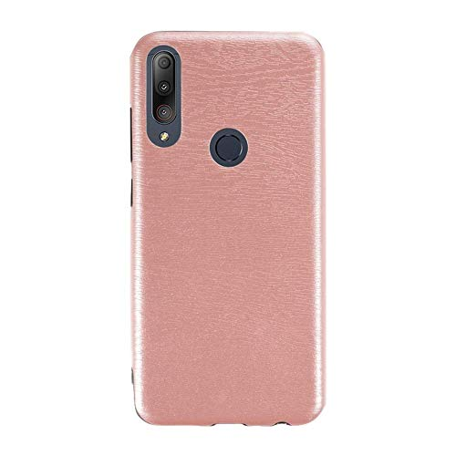 Capa para Asus Zenfone Max Plus M2 ZB634KL, capa traseira de couro de poliuretano termoplástico macio à prova de choque, capa protetora de corpo inteiro luxuosa para Asus Zenfone Max Shot ZB634KL (ouro rosa)