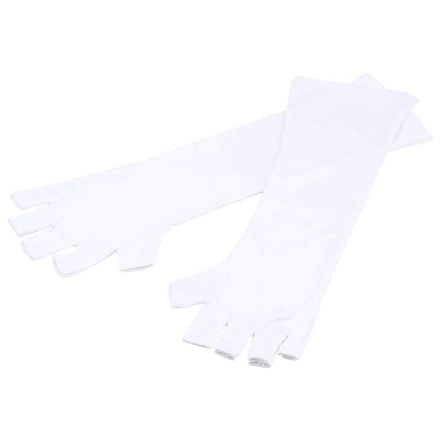 Followmyheart 1ペアUVジェルネイルアート抗紫外線オープントゥ保護手袋用研磨美容ネイルデバイス用女性