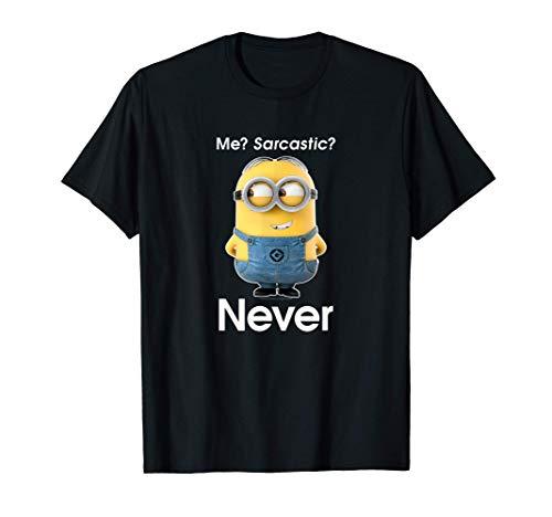 Despicable Me Minions Dave Me? Sarcastic? Never Camiseta