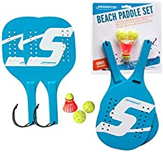 Speedminton SM01-PADDLE-04 Light Wooden Beach Paddle Smashball & Beach Tennis (4 Players)