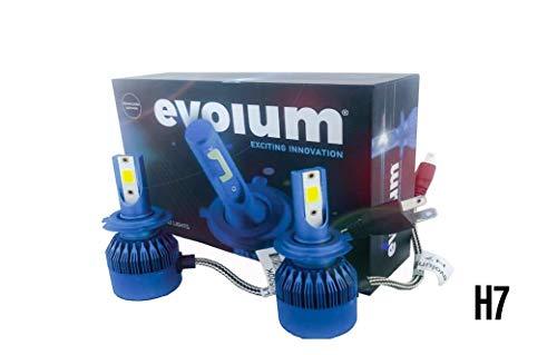 Evolum Kit de Focos LED H4 9007 H3 H11 C6 40w para Faros Principales con Alta, Bajas y Biled(Altas y…