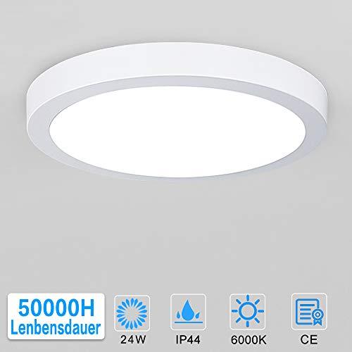 Preisvergleich Produktbild Deckenleuchte 24W,  LED Panel Einbauleuchte,  Kaltweiß Downlight,  Deckenlampe Rund für Wohnzimmer,  Schlafzimmer,  Kinderzimmer,  Küche,  Flur