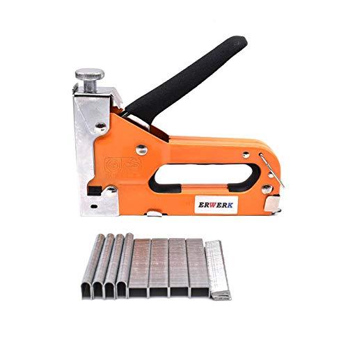 Nietmachine, 3-in-1 handmatige nietpistool met 600 stuks nagels, meubeldecoratie meubels nietpistool huishoudelijke handgereedschap Nietmachine