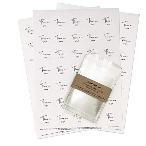 Throw Me Konfetti-Sticker für Hochzeit, Weiß, 1055 x Stickers + Clear Bio Bags