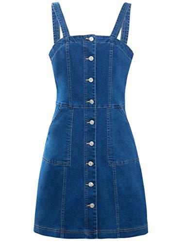 SS7 damska dżinsowa sukienka z pinafordem