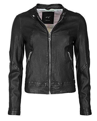Maze Damen Lederjacke Mit Farbigem Innenfutter 420-20-04 Black S