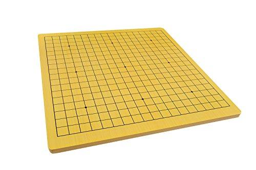 Quantum Abacus Xiangqi & Go Spielbrett - hochwertiges Spielfeld für Go (19x19) und chinesisches Schach aus 3,5kg schwerem Holz, nur Spielbrett, Keine Spielsteine, 57cm x 54cm x 1,5cm, Mod. CL-015