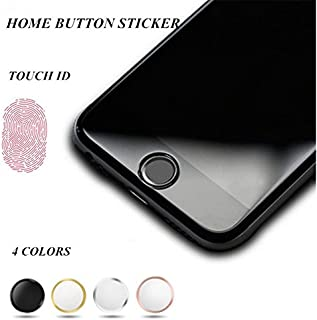 OWIKAR 4 Packs Home Button Sticker-Touch ID Button (Support Fingerprint Indentification System Touch ID) for iPhone 8/7 8 Plus 7 Plus 6S Plus 6S 6 Plus 6 5S SE iPad Mini 3, iPad Air 2, iPad Mini