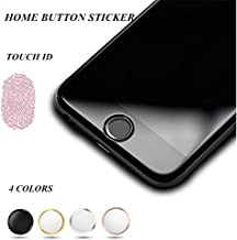 OWIKAR 4 Packs Home Button Sticker-Touch ID Button (Support Fingerprint Indentification System Touch ID) for iPhone 8/7 8 Plus 7 Plus 6S Plus 6S 6 Plus 6 5S SE iPad Mini 3, iPad Air 2, iPad Mini