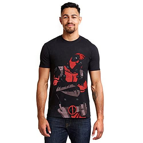 Marvel Deadpool Talking Camiseta, Negro,...