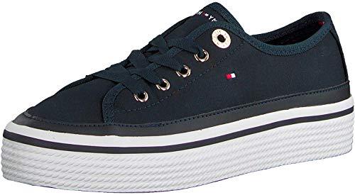 Tommy Hilfiger Damen Corporate Flatform Sneaker, Blau (Midnight 403), 41 EU