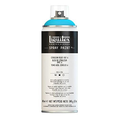 Liquitex Professional Spray Paint - Acrylfarbe, Farbspray auf Wasserbasis, lichtecht, 400 ml - Coelinblau Imit. Nr. 6